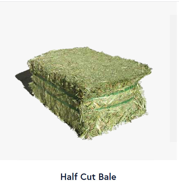 Half cut bale
